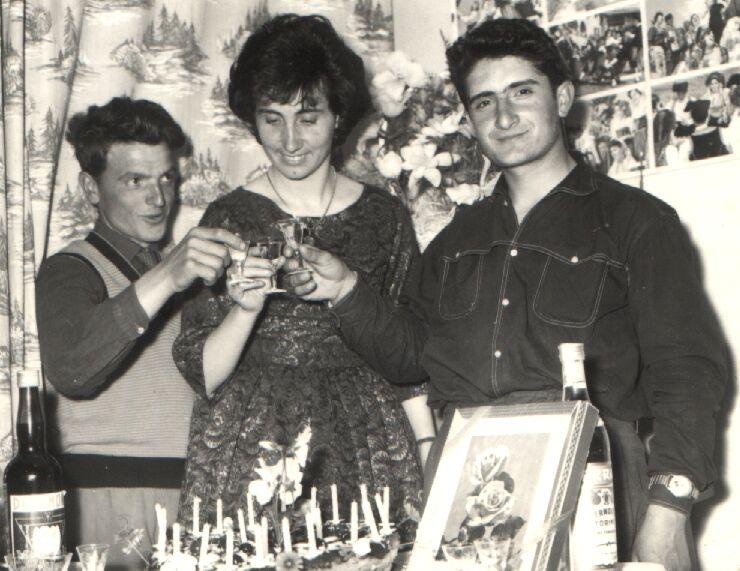 Nunzio Fazioli con amici